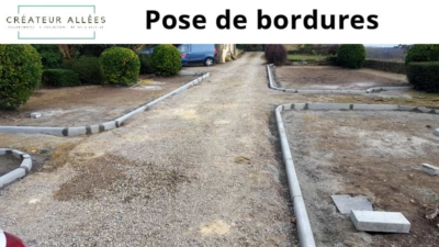 Pose de bordures - Terrassement 33