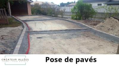 Pose de pavés - Terrassement 33