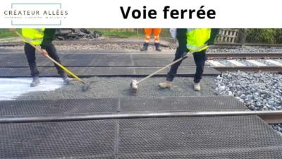 Voie ferrée Gironde -Terrassement 33